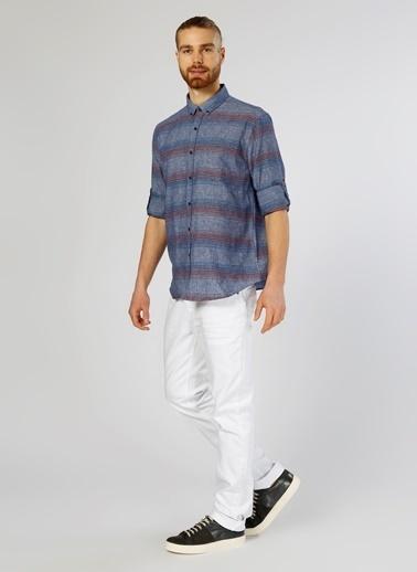 T-Box Uzun Kollu Gömlek İndigo